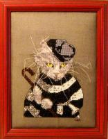 The Cat Burglar Cross Stitch Pattern PS-2061