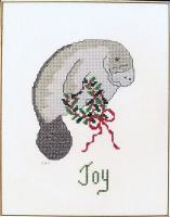 The Christmas Manatee Cross Stitch Pattern PS-9712