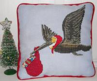 The Christmas Pelican Cross Stitch Pattern PS-9953