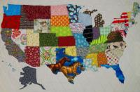 USA Patchwork Map Quilt Pattern QBE-104e