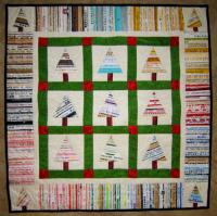 Selvage Christmas Trees Quilt Pattern QBE-116e