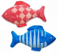 Checkerboard & Tiger Fish Stuffed Animal Pattern RQS-101