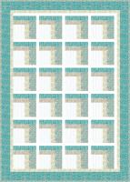 Modern Two Sided Log Cabin Quilt Pattern SEW-150