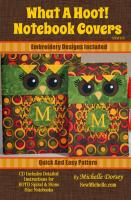 What a Hoot Notebook Covers Pattern SM2-116