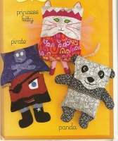 Panda Pirate and Princess Hidden Treasure Pillows Pattern SSP-124