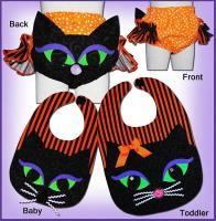 Cat Ears Diaper Cover and Bib Pattern ST-114
