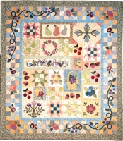 Wildberry Vines - Borders, Border Vines, Border Posies & Layout Guide Quilt Pattern TIM-5444