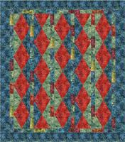 Kasuri Diamonds Quilt Pattern TL-103