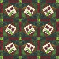 Jeweled Tulip Quilt Pattern YF-109